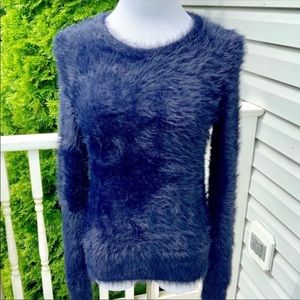 Navy Faux Fur Sweater from BR
